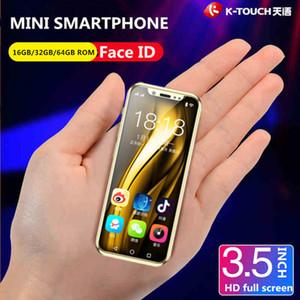 Süper Mini Cep telefonu Orijinal K-TOUCH I9 Android 8.1 16 GB / 32 GB / 64 GB ROM Lüks Metal Çerçeve Telefone Yüz KIMLIK WiFi öğrenci 4G Smartphone
