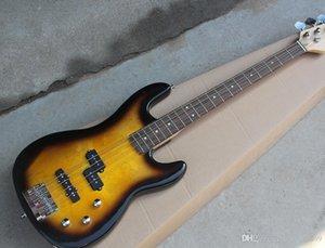 Tütün Sunburst Guitarra baixa Eletrica com 3 Captadores, 4 Cordas, escala em Gülağacı, Ferragens Cromadas, oferta Personalizada serviços