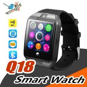Smart Watch Q18 bracelets intelligents sans fil NFC caméra à distance carte SIM Passomètre pour ios android samsung htc lg montres intelligentes facebook