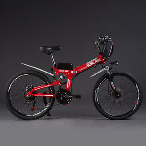 CE UL KC emici elektrikli bisiklet 26 inç 24 torba tipi bir lityum pil katlanır Dağ bisikleti yumuşak kuyruk tam şok