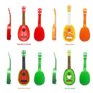 미니 기타 현악기 악기 우쿨렐레 귀여운 아이 과일 기타 창조적 인 선물 상자 장난감 유아 음악 악기 어린이 장난감