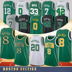 NCAA 8 Kemba Walker Herren College Basketball 0 Jayson Tatum 20 Gordon Hayward 7 Jaylen Brown 33 Larry Bird Basketballtrikots Boston Celtics 2020 New Jerseys