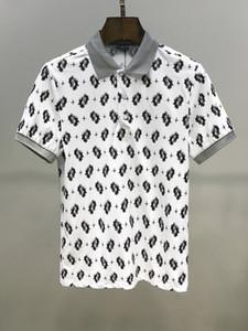 homens marca Nova Primavera, Verão, Outono ocasional polo camisa camisetas homens camisetas polo cobra abelha bordados camiseta alta rua mens polo