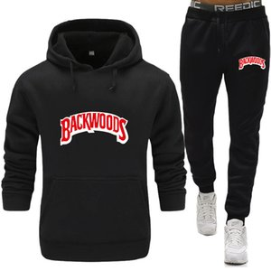 brand Backwoods tracksuit 2020 Backwoods hoodies for Men Sportswear two-piece sets of thick hooded wool + Pants sports suit men
