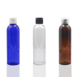 600 X 5OZ Blue Clear Brown Round Lotion Bottle with Easy Flip Cap 150ml Shampoo Travel Jars SN1021