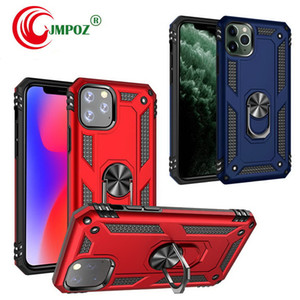 Metal Ring Holder Magnetic Hybrid Phone Case for iPhone 11 Pro Max 11 Pro XS MAX XR 7 8 Plus Samsung Note 10 Plus S10 plus A30 A50 A70