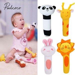 Bebê brinquedos clássicos Animais Handbells Desenvolvimento Brinquedos Cama Sinos Baby Kids Soft Toys Rattle Adorável suave Mobiles