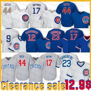 44 Anthony Rizzo Jersey 9 Javier Baez 17 Kris Bryant 12 Kyle Schwarber 22 Jason Heyward 23 Ryne Sandberg Baseball Jersey