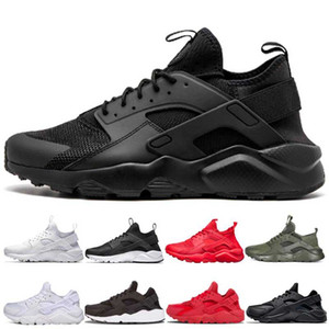 New 2020 Huarache triple black white Running Shoes men women design Huaraches Red Gold green Grey Trainers Sport Sneakers Shoe Size 36-45