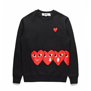 패션의 새로운 가을 얇은 폴카 도트 후드 중심지 인쇄 조깅 코트 운동복 스웨터 블랙색 스웨터 후디