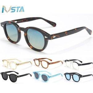 Ivsta Qualitäts-Brillen Lemtosh Stil Johnny Depp Sonnenbrille polarisierte Männer Acetate Runde Frauen-Marken-Designer aiMAm