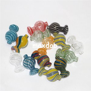 wholesale Glass bubble carb cap fit for 20mm 25mm quartz banger nail X XL banger Glass Water Pipe glass bong