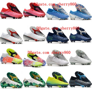 2020 garçons hommes crampons de football Superfly 7 chaussures de football Elite SE FG cr7 chaussures de soccer Neymar femmes enfants Mercurial Vapors 13 35-45