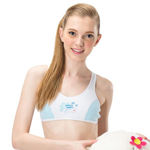 Funklouz Raparigas Cotton Bra adolescente Roupa interior Student Training Sports Bra Adolescente