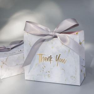 Yaratıcı Mermer Avrupa Tarzı Hediye Çanta Düğün Hediye Kutusu Misafirler 10pcs Gelin Nikah Şekeri ve Şeker Poşetleri verir / lot