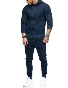 Hommes solides Costumes Couleur d'hiver Hommes Sport Pantalon survêtements de jogging Costume Designer Survetement hommes Survêtements