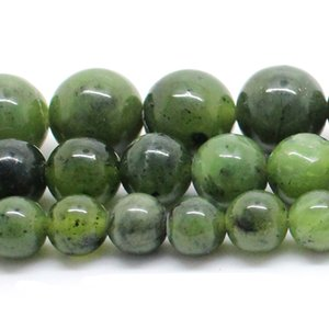 Natural Stone Beads Canada Jade Stone Beads For Jewelry Making Bracelet Necklace 15inch 6 8 10 12mm Spacer Beads Diy Jewelry