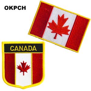 Drapeau du Canada livraison gratuite fer à broder sur Patch 2pcs par Set PT0083-2