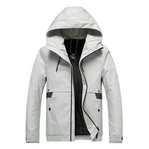 Escudo feitong Hombres Parka acolchada de algodón de invierno chaqueta con capucha para hombre de moda Escudo de gran tamaño caliente grueso Parka erkek Mont 8M355