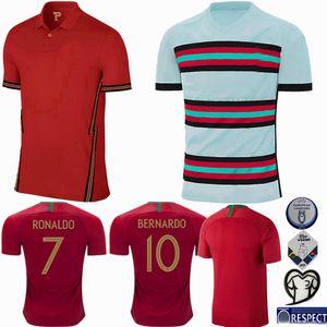 2020 2021 포르투갈 축구 유니폼 B.FERNANDES 베르나르도 호나우두 홈 원정 19 20 21 축구 저지 남성 여성 및 어린이 셔츠 4XL