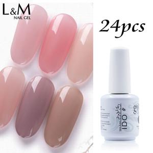 24 pcs I Do glaze builder gel15ml DHL free shipping Jelly soak off nail polish gel UV builder nail art gel for extend nails