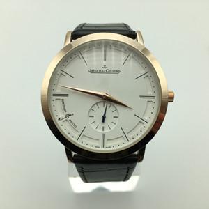 En solde 40mm ultra-minces cadrans trois petits hommes de luxe en or de quartz de bracelet en cuir aiguille concepteur montre dropshipping mode montres pour hommes