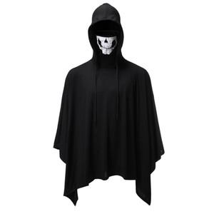 New Mens Herbst-Winter-Kleidung Halloween Hoody Sweatshirts Skeleton Neck Hoodie lose Mens Halloween Kleidung Trend Hoodies Cloak