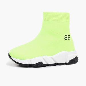 Kid shoes girl designer sneaker red botton baby boy sport sneakers girl fabric slip on boots for child dress BB letter design Eu 24-37