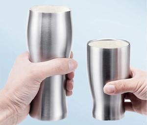 12piece / 많은 간단한 진공 보온 컵의 높이 품질 304 스테인레스 스틸 더위와 추위를 이중 사용 차 컵 맥주 커피 잔 420ml