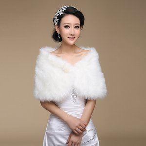 New Arrival Wedding & Events Bridal Accessories Bridal Wraps & Jackets Fur Shawl Winter Thicken Keep Warm Jacket