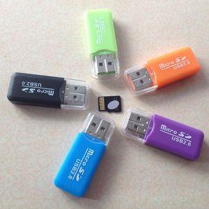 Micro SD Card Reader micro adattatore per PC Computer con interfaccia USB Sim TF carta di memoria Flash Super High Speed di telefono economici Reader