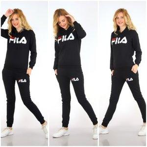 2020 Nova Mulheres Designer Treino Primavera pulôver com capuz Calças De duas partes Set Outfit Womens Casual Sweat Ternos Vestuário L729