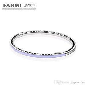 FAHMI 100% de plata esterlina 925 1: 1 pulsera básico original auténtico encanto 590537EN66 adecuados joyería de bricolaje con cuentas Mujeres