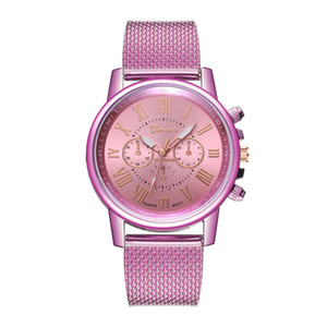 2020 Trend Creative Personality Explosion Style Casual Student Watch Double-sided Tri-eye Mesh Belt Symphony Watch a3