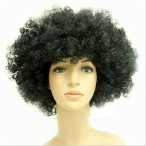adjustable Select color and style 1pc Women Men Short Curly Afro Clown Soccer Fans Party Cosplay Ful Wigs