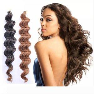 crochet braids hair extension kanekalon braiding hair Deep wave crochet hair bundles afro kinky curly synthetic ombre