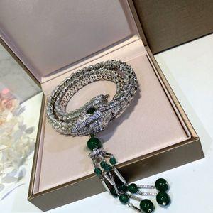 Mulheres Jóias Cobra Tassel Colar alta polido colar de Moda de jóias mulheres partido presente quente grátis