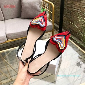 Hot Sale- new style, pointed head, head and feet, empty sheep, anti-velvet, color-matched love sandals, size 35-40