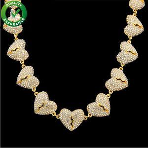 Glacé Out Chaînes Bijoux Hip Hop Collier Pour Hommes Cubain Lien Designer De Luxe Marque Coeur Pandora Style Charmes Bling Rappeur Chaîne Hiphop Diamant