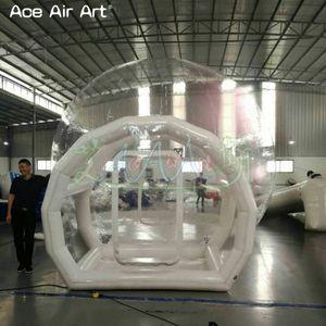 Gonfiabile tenda bolla trasparente con tunnel per il campeggio di alta qualità esterna tarvel leggero chiaro tenda a cupola