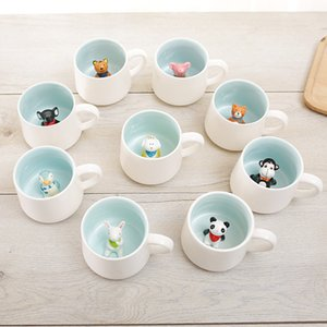 400ml 3D matinal Canecas Home Office Animal Café Canecas Panda Monkey Lion tiger Cat Mouse Caneca