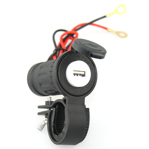 Waterproof Motorcycle Cigarette Lighter USB Car Phone Charger DC12-24V 2.1A