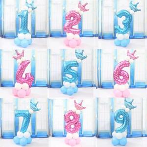 Leuchtende Farbe Anzahl Folienballon Riesen Erwachsene Kinder-Geburtstags-Party-Babyparty Exquisite Dekoration Festival Zubehör
