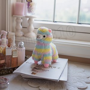 quente do arco-íris Alpaca Boneca 20 centímetros de algodão macio encantador bicho de pelúcia Plush Toys Alpaca Cavalo Lama caçoa o presente PartywareT2G5062