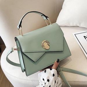 Factory wholesale women handbag new small fresh leather handbags simple stitching women messenger bag trend white leather shoulder bag
