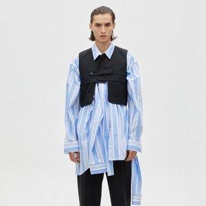 S-6XL 2020 New men's clothing Hair Stylist GD Fashion Original Irregular model Vest jacket plus size stage Singer costumes