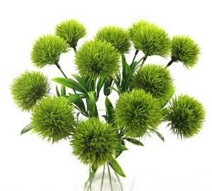 Único tronco dandelion flores artificiais dandelion decorações de casamento flor de plástico comprimento de cerca de 25 cm mesa de centro sn3014