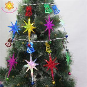 Новое прибытие украшения рождественской елки Строка висит кулон украшения школы Birthday Party Supplies многоразовый мультистиле 15 75txH1