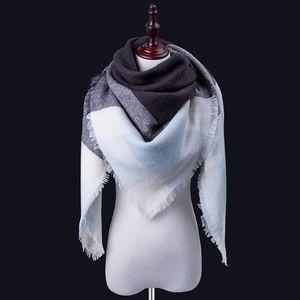 Prix usine Couverture en gros surdimensionné Tartan Scarf Wrap Châle Plaid Cozy Beaucoup cochés Pashmina femmes Hot Designs