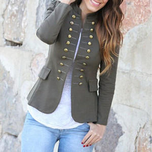 Women Jacket Coat 2019 Autumn Fashion Short Coat High quality Double-breasted Female Outerwear Women Cardigans Ladies Clothes